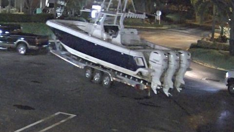 Boat Stolen, Thieves Caught on Camera – Public Help Needed