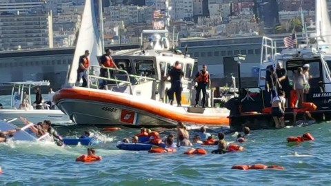 30 Rescued After 34-Foot-Long Sailboat Capsizes