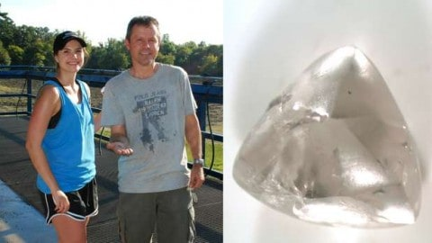 Father-Daughter Gem Hunters Find 2.03-Carat Diamond In State Park