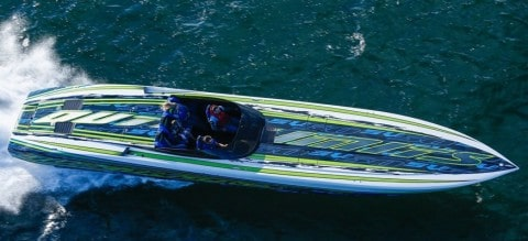 Carbon Fiber Twin 1,550HP Speed Machine Reaches 153 MPH In First Trial At Sea