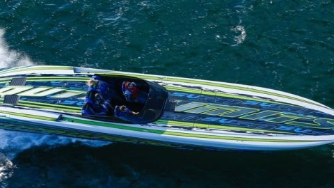 Carbon Fiber Twin 1,550HP Speed Machine Reaches 153 MPH In First Trial At Sea