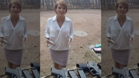 You Won't Believe How Much Heat This Lady's Packing Under Her Dress Clothes