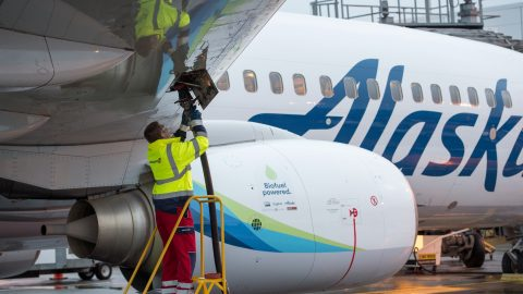 Biofuel From Logging Scraps Powers Alaska Airlines Jet On Cross-Country Flight