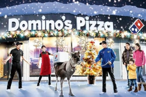 Domino's to Use Pizza Delivery Reindeer This Holiday Season