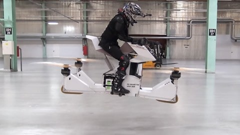 Incredible Hoverbike Prototype Takes the Motorcycle and Knocks its Wheels Off