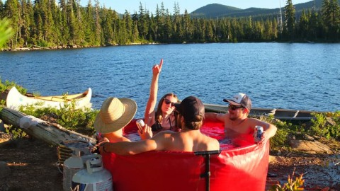 The Portable Hot Tub Will Make All Future Camping Trips Better
