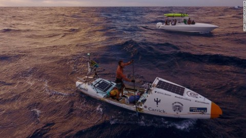 Man Becomes the First Person to Cross Atlantic Ocean on a Paddleboard