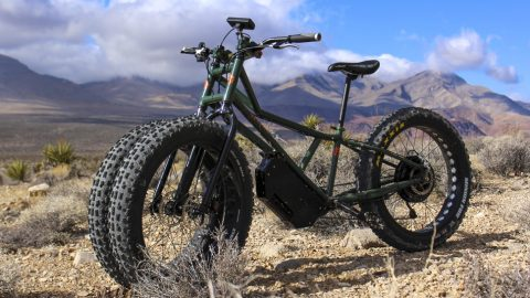 Three-Wheeled Monster: Electric Mountain Bike Promises to Take On Any Trail