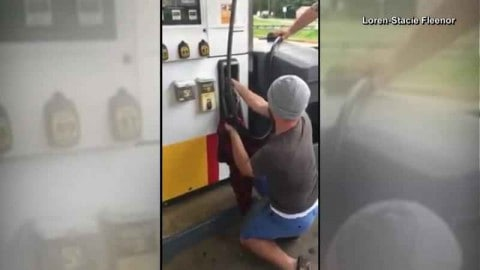 Customer Finds 4-Foot Snake Hiding in a Gas Station Pump