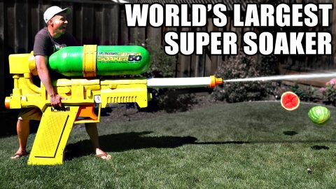 The World's Biggest Super Soaker Destroys Everything!