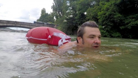 VIDEO: Forget the Car! This Guy Swims to Work Every Single Morning!