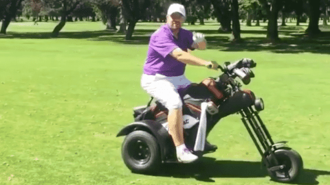 VIDEO: This Motorcycle Golf Cart Is Everything You Never Knew You Wanted