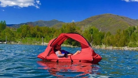 Never Leave the Water with Traft: The Tent/Raft Hybrind That Will Change How You Enjoy the Outdoors