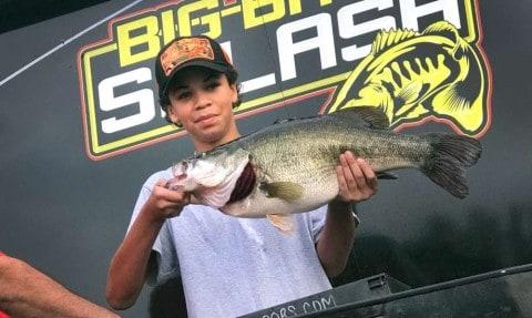 12-Year-Old Boy Wins Big Bass Splash Fall Shootout With A 9.6-Pound Largemouth Bass