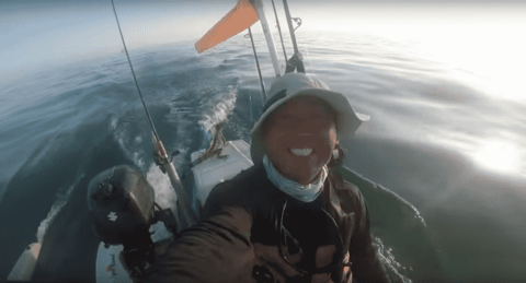 VIDEO: Kayak Fisherman Finds Iguana Four Miles Offshore, Gives It A Lift
