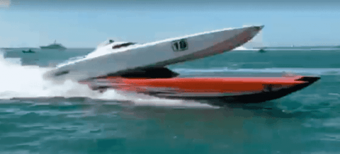 VIDEO: Boat Race Accident Launches Boat Through The Air