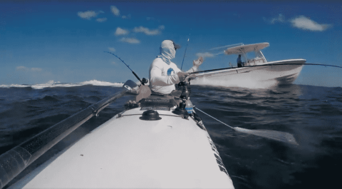 Watch Boat Get Ridiculously Close As It Passes Offshore Kayaker