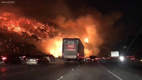 VIDEO: Raging Wild Fire Tears Across Los Angeles, Turning It Into A Blazing Apocalypse