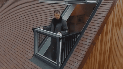 VIDEO: Shapeshifting Window Transforms Into A Balcony In Seconds
