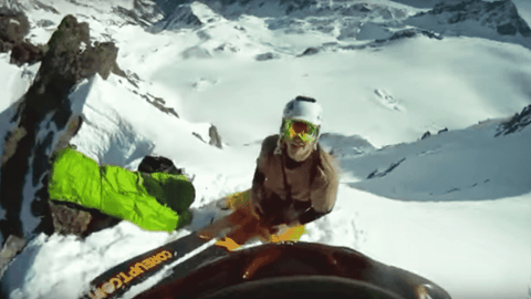 VIDEO: Skier Falls Off Cliff And Miraculously Survives