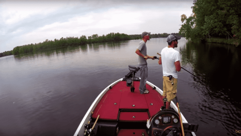 VIDEO: Anglers Boat Gets Shot While Out Fishing