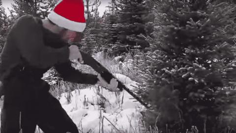 "No Saw, No Problem: Guy ""Cuts"" Down Christmas Tree With A Shotgun"