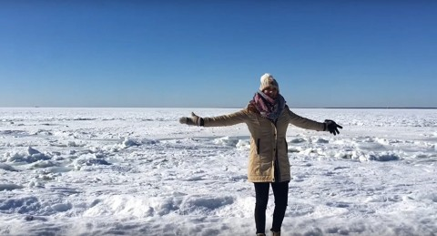 VIDEO: It Got So Cold At This Beach That The Ocean Froze!