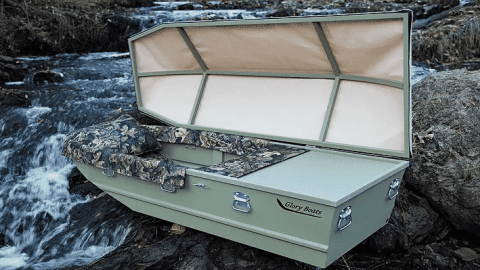 Glory Boats Are The Boat Shaped Caskets For Perfectly Celebrating The Life Of Any Outdoorsman