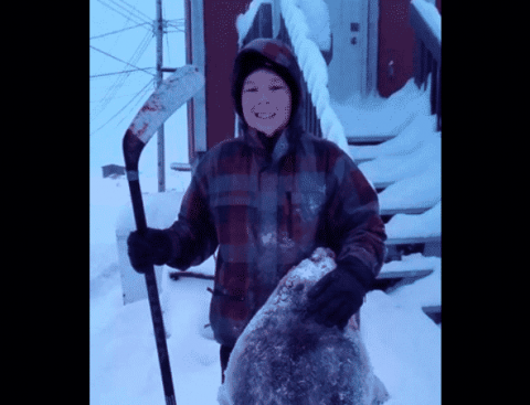 It Doesn't Get More Canadian Than This Inuk Boy Who Killed A Seal With A Hockey Stick