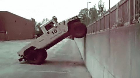 VIDEO: Humvee Climbs A 6 Foot Vertical Wall Like It's Nothing