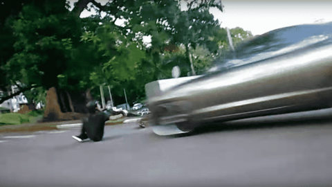 VIDEO: Longboarder Gets Hit By Car Mid-Ride And Amazingly Survives