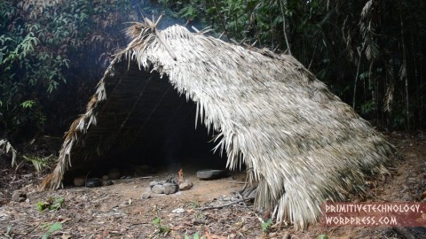 VIDEO: Guy Builds A Primitive A-Frame Hut From The Ground Up