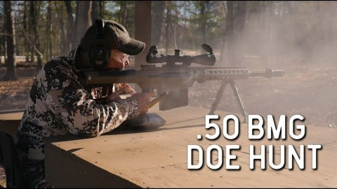 VIDEO: Whitetail Deer Hunt With a .50 Caliber BMG Is All Sorts Of Overkill