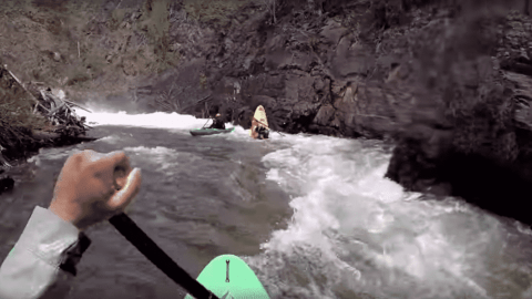 VIDEO: Kayak Snaps In Half In The Middle Of A Rapids Run