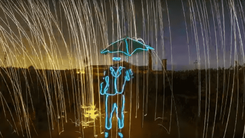 VIDEO: Artist Creates Incredible Light Display Using Just A GoPro