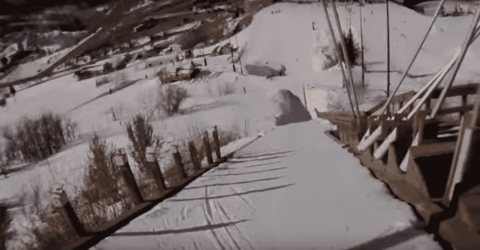 Watching This 4th Grader Nail Her First Ski Jump Will Brighten Your Day