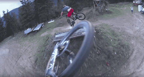 Watch Mountain Biking Trio Nail An Epic Series Of Jumps