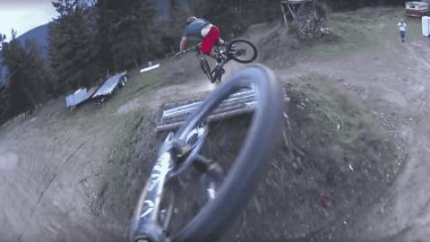 Watch Mountain Biking Trio Nail An Epic Series Of Jumps