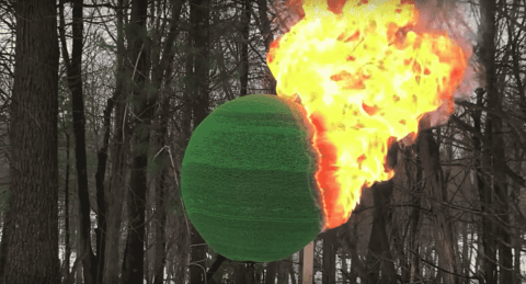 VIDEO: Guy Glues 42,000 Matches Into Giant Sphere And Sets It On Fire