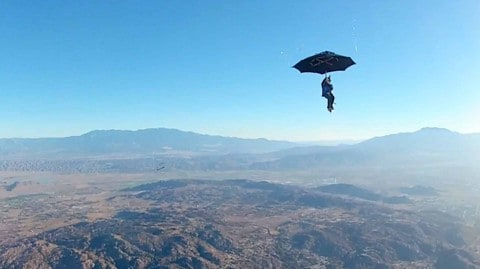 VIDEO: Skydiver Goes Full Mary Poppins And Jumps Using A Giant Umbrella