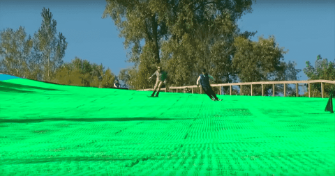 VIDEO: Buck Hill Offers Year-Round Skiing Thanks To Artificial Ski Surface