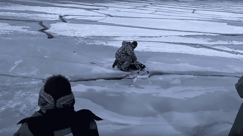 VIDEO: Anglers Run In Terror As Wave Moves Under Ice