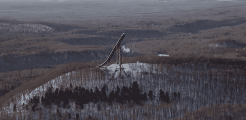 VIDEO: 24-Story Backwards Ski Jump Leads To Epic Air And A Gnarly Crash