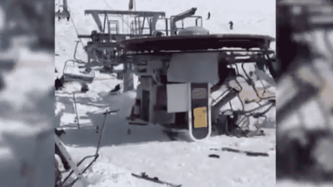 People Sent Flying Through The Air After Ski-Lift Failure