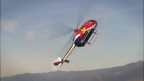VIDEO: Red Bull Helicopter Flips, Spins And Rolls Through The Air