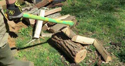 VIDEO: We've Been Splitting Wood Wrong Our Whole Lives — Here's A Better Way!