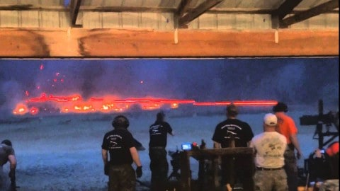 Minigun Firing Tracer Rounds Looks Like Something Out Of Star Wars