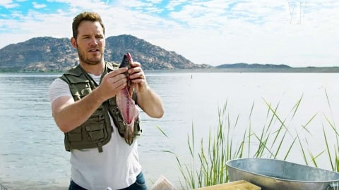VIDEO: Chris Pratt Teaches Us All How To Clean A Fish And 'Release It' So We Can Catch It Again Next Year