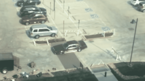 Car Drives Through Fresh Cement And Shows Everyone Why Barricades Are Helpful