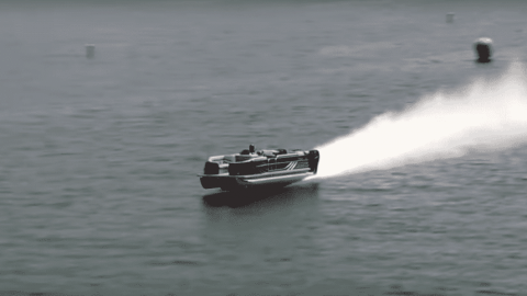 This Pontoon Boat Will Zoom Past Your Boat And Put You To Shame At 114MPH
